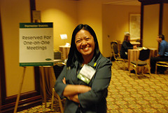 Charlene Li at Forrester\'s Marketing Summit in APril 2008, about a month after the release of \